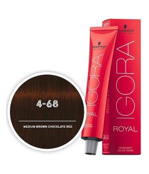 Schwarzkopf IGORA 4-68 Средний коричневый шоколадный красный