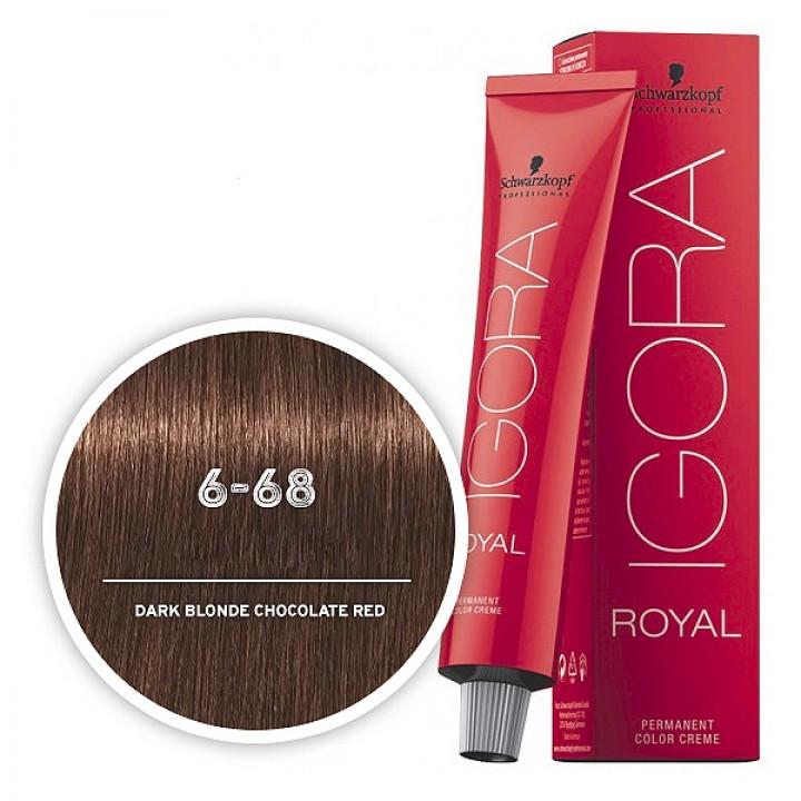 Schwarzkopf IGORA 6-68 Темный русый шоколадный красный