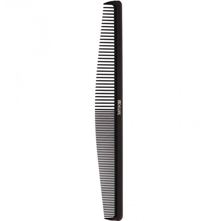 DEWAL Расчёска рабочая MAGNESIUM комбинированная, черная 19.3см//CO-M-2002