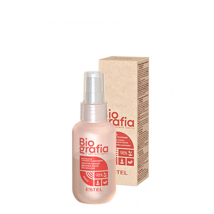 """BG/S/2F100 Натуральная двухфазная эссенция для волос"""" Мгновенный блеск """" ESTEL BIOGRAFIA, 100 мл"""