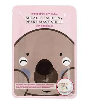 МЛТ Маска тканевая с экстрактом жемчуга MILATTE FASHIONY PEARL Mask, 21 гр