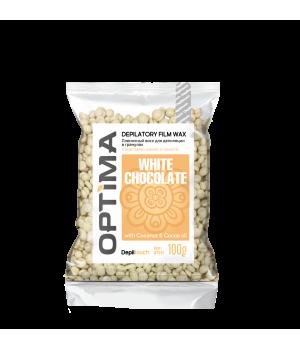 "Depiltouch Пленочный воск для депиляции OPTIMA ""WHITE CHOCOLATE"" в гранулах 100 гр."
