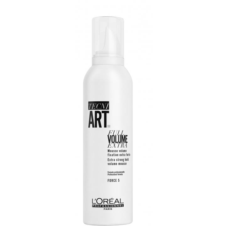 L'Oreal TecniArt Full Volume Extra Мусс для придания экстра-объёма и супер фиксации тонких волос 250 мл