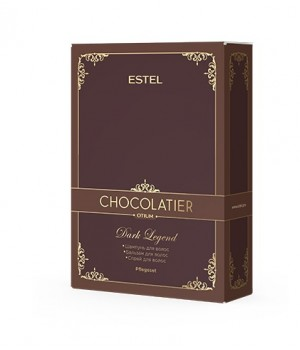 CH/DL Набор Dark Legend ESTEL CHOCOLATIER (ш 250 темн, бальз 200 темн, спрей 200 темн шоколад)