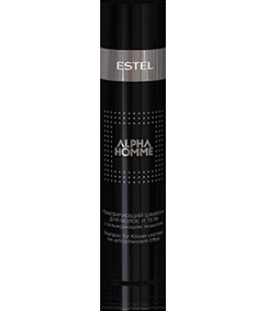 ALPHA HOMME Тонизирующий шампунь с охлаждающим эффектом для волос, 250 мл