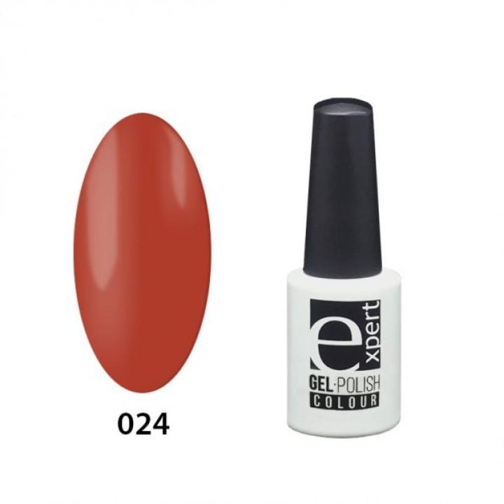 024 «expert» гель-лак цветной, Carrot Red (морковно-красный), 5мл