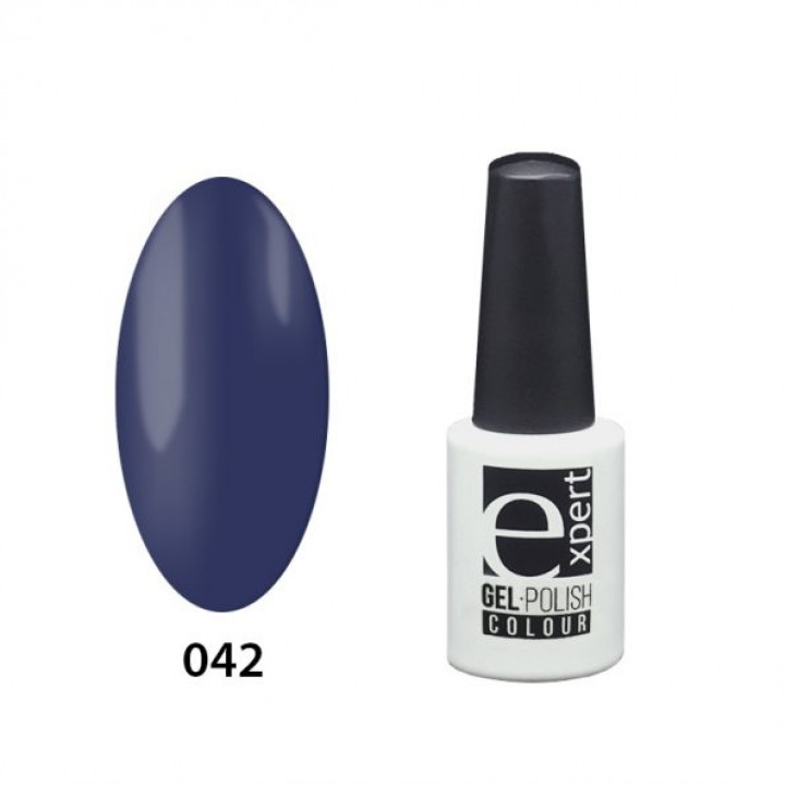 042 «expert» гель-лак цветной,Navy (графитовый синий ), 5мл