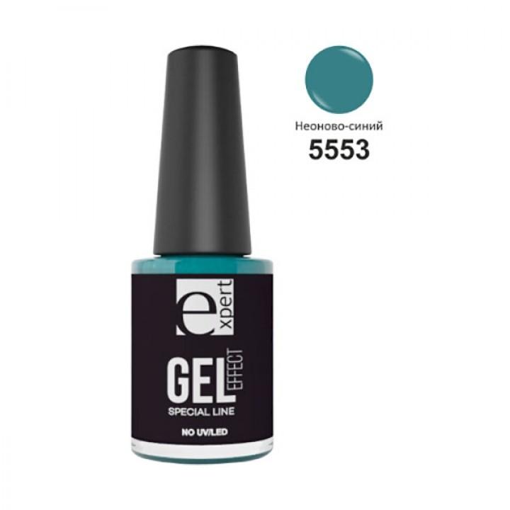 5553 «expert» лак для ногтей с гель-эффектом, 5мл, неоново-синий